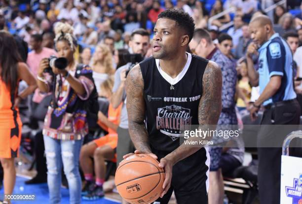Jack McClinton attends 50K Charity Challenge Celebrity Basketball Game at UCLA's Pauley Pavilion on July 17 2018 in Westwood California