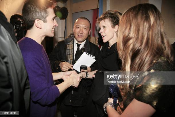 Jack McCollough Joe Zee Roberta Myers and Leighton Meester attend PROENZA SCHOULER Fall 2009 Collection at 508 WEST 26TH STREET on February 18 2009...