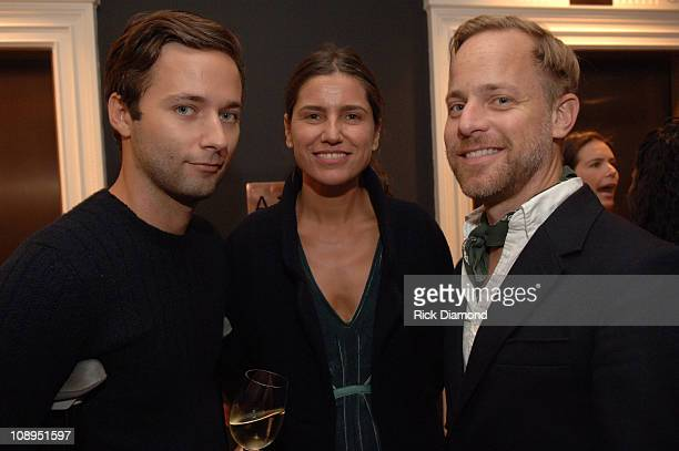 """Jack McCollough, Sylvie and Bruce Pask during """"T Style"""" Magazine Launch Party at Bergdorf Goodman in New York City, New York, United States."""