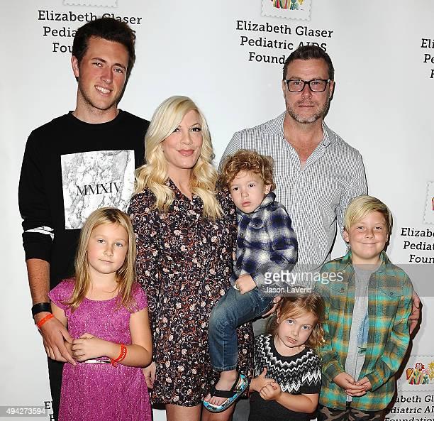 Jack McDermott, Stella McDermott, actress Tori Spelling, Finn McDermott, Hattie McDermott, actor Dean McDermott and Liam McDermott attend the...