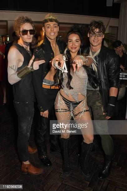Jack McEvoy Natasha Grano and guests attend Natasha Grano's birthday party at The Mandrake Hotel on January 8 2020 in London England