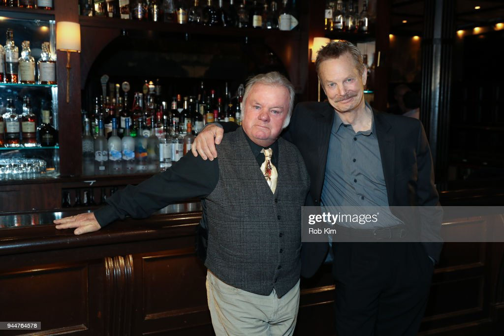 Jack McGee (L) and Bill Irwin attend 'The Iceman Cometh' Broadway Meet The Press at Delmonico's on April 11, 2018 in New York City.