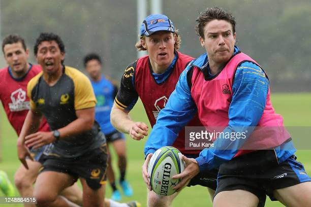 Jack McGregor in action during a Western Force media opportunity at the UWA Sports Park on June 11, 2020 in Perth, Australia.