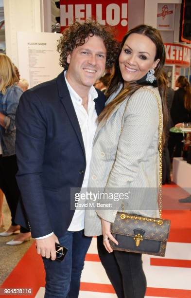 Jack McManus and Martine McCutcheon attend Hello Magazine's 30th anniversary party at Dover Street Market on May 9, 2018 in London, England.