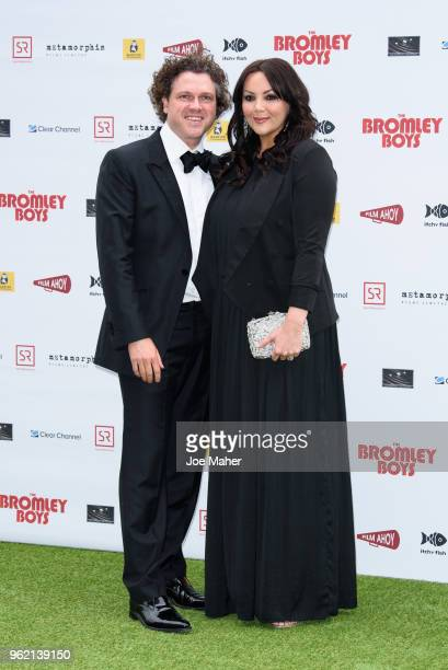 Jack McManus and Martine McCutcheon attend 'The Bromley Boys' UK premiere held in The Great Room at Wembley Stadium on May 24, 2018 in London,...