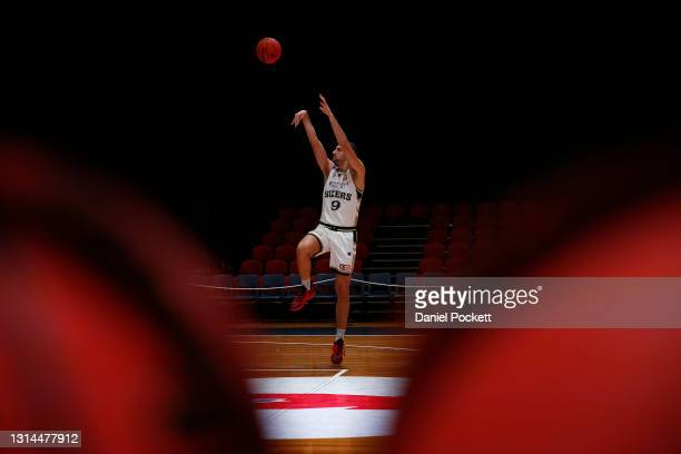 Jack McVeigh of the 36ers warms up before the round 15 NBL match between the New Zealand Breakers and the Adelaide 36ers at Silverdome, on April 26...
