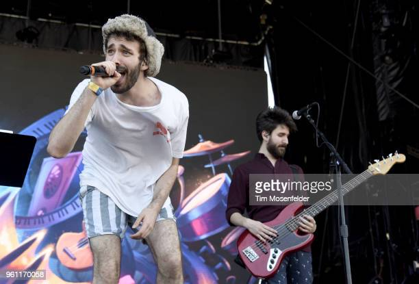 Jack Met and Adam Met of AJR perform during the 2018 Hangout Festival on May 20 2018 in Gulf Shores Alabama