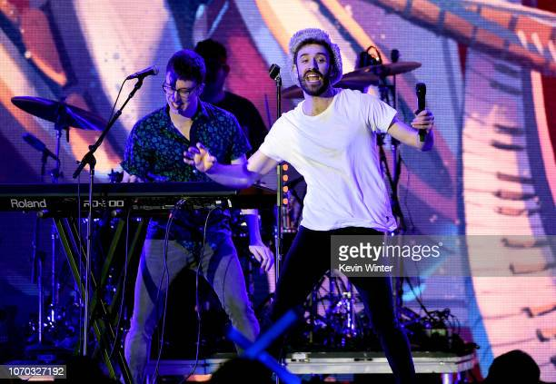 Jack Met of the band AJR performs on stage during the KROQ Absolut Almost Acoustic Christmas at The Forum on December 8 2018 in Inglewood California