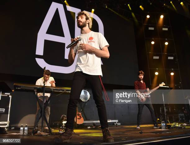 Jack Met Ryan Met and Adam Met of AJR perform during the Live 105 BFD at Concord Pavilion on May 13 2018 in Concord California