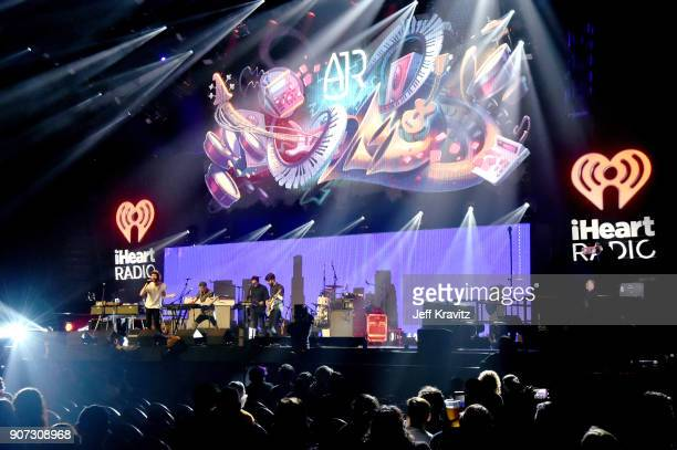 Jack Met Ryan Met and Adam Met of AJR perform onstage during iHeartRadio ALTer Ego 2018 at The Forum on January 19 2018 in Inglewood United States