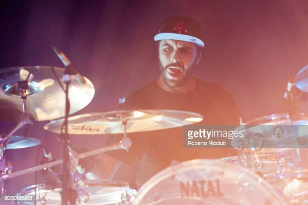 Jack Metcalfe of The Hunna performs on stage at O2 Academy Glasgow on January 9 2018 in Glasgow Scotland