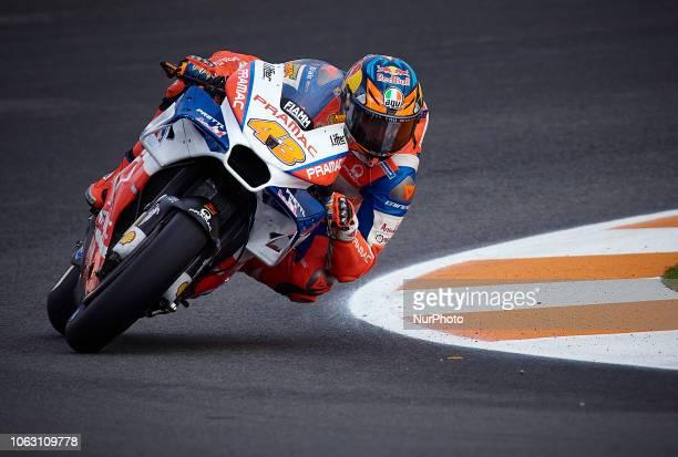 Jack Miller of Australia and Alma Pramac Racing Ducati during the qualifying of the Gran Premio Motul de la Comunitat Valenciana of world...