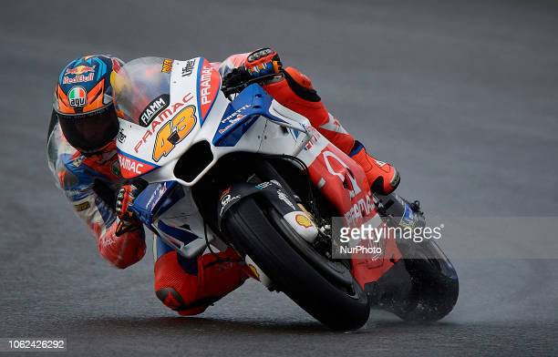 Jack Miller of Australia and Alma Pramac Racing Ducati during the free practice during the Gran Premio Motul de la Comunitat Valenciana of world...