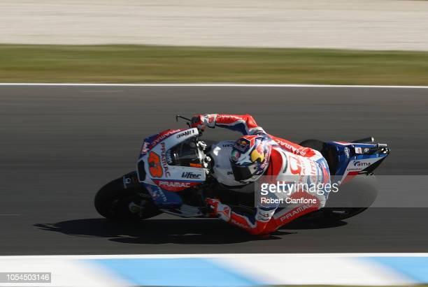 Jack Miller of Australia and Alma Pramac Racing during the 2018 MotoGP of Australia at Phillip Island Grand Prix Circuit on October 28 2018 in...