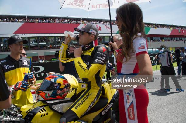 Jack Miller of Australia and Alma Pramac Racing prepares to start on the grid during the MotoGP race during the MotoGp of Italy Race at Mugello...