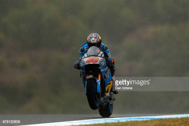 Jack Miller of Australia and EG 0,0 Marc VDS rides during free practice for the MotoGP of Spain at Circuito de Jerez on May 5, 2017 in Jerez de la...