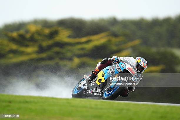 Jack Miller of Australia and Estrella Galicia O,O Marc VDS rides during free practice for the 2016 MotoGP of Australia at Phillip Island Grand Prix...