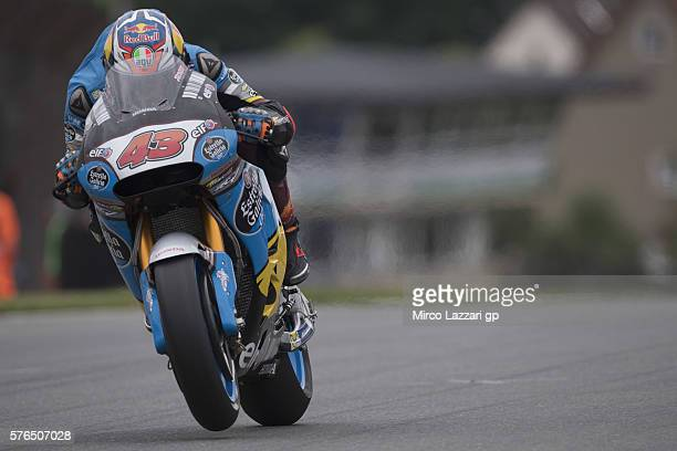 Jack Miller of Australia and Marc VDS Racing Team heads down a straight during the MotoGp of Germany Free Practice at Sachsenring Circuit on July 15...