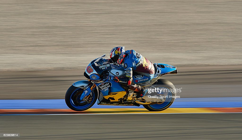 Jack Miller of Australia and Marc Vds Racing Team heads down a straight during the MotoGP Test in Valencia at Ricardo Tormo Circuit on November 16, 2016 in Valencia, Spain.
