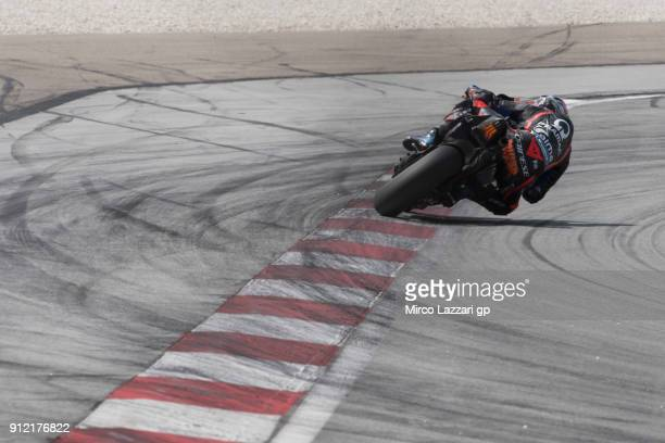Jack Miller of Australia and Octo Pramac Racing rounds the bend during the MotoGP test in Sepang at Sepang Circuit on January 30 2018 in Kuala Lumpur...