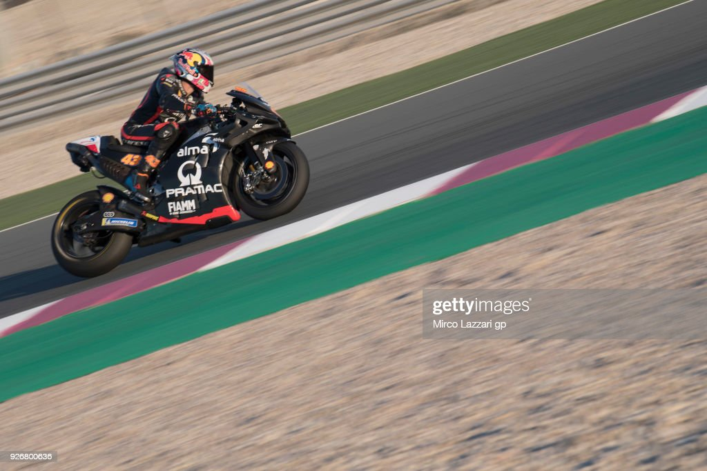 Jack Miller of Australia and Octo Pramac Racing rounds the bend during the Moto GP Testing - Qatar at Losail Circuit on March 3, 2018 in Doha, Qatar.