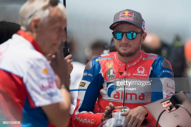 Jack Miller of Australia and Pramac Racing prepares to start on the grid during the MotoGP race during the MotoGp Red Bull US Grand Prix of The...