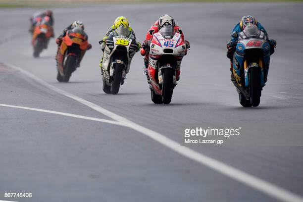 Jack Miller of Australia and Team EG 00 Marc VDS leads the field during the MotoGP race during the MotoGP Of Malaysia Race at Sepang Circuit on...