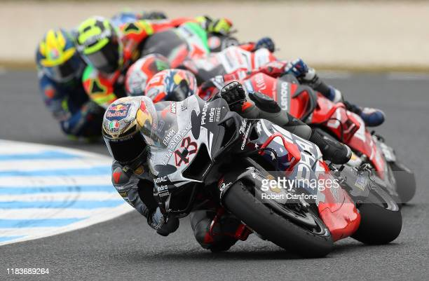 Jack Miller of Australia rides the Pramac Racing Ducati during the 2019 MotoGP of Australia at Phillip Island Grand Prix Circuit on October 27, 2019...