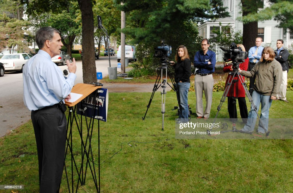 Tom Allen speaks to media in Portland, Monday, September 22, 2008, about the current finacial crisi... : News Photo