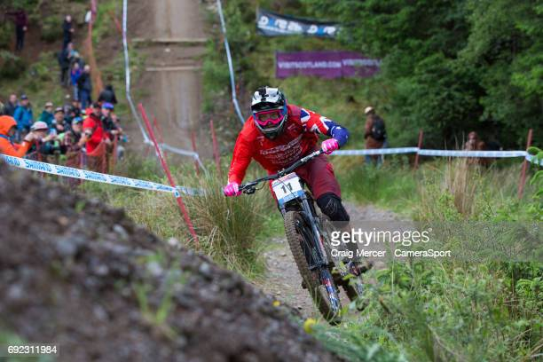 Jack Moir of Australia in action in the Men's Downhill Final during the UCI Mountain Bike World Cup on June 4 2017 in Fort William Scotland