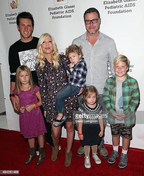 Jack Montgomery McDermott, Stella Doreen McDermott, actress Tori Spelling, Finn Davey McDermott, Hattie Margaret McDermott, actor Dean McDermott and...