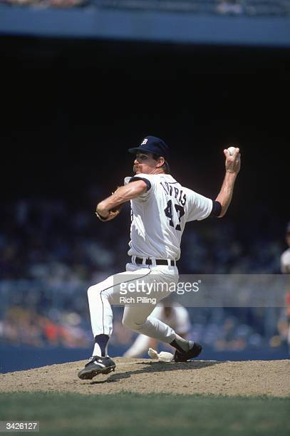 Jack Morris of the Detroit Tigers on the mound during a 1984 season game