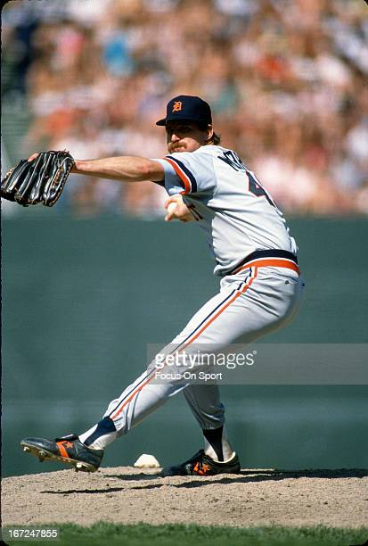 Jack Morris of the Detroit Tigers pitches during an Major League Baseball game circa 1980 Morris played for the Tigers from 197790