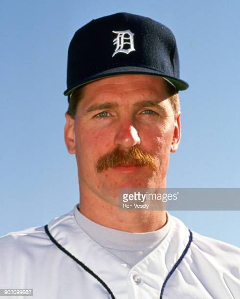 Jack Morris of the Detroit Tigers poses for a photo prior to a major league baseball spring training game at Joke Marchant Stadium in Lakeland...
