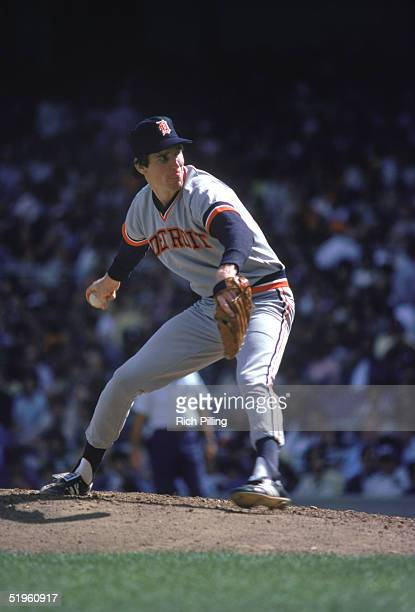 Jack Morris of the Detroit Tigers winds back to pitch during a 1974 season game Jack Morris played for the Detroit Tigers from 19771990 Minnesota...