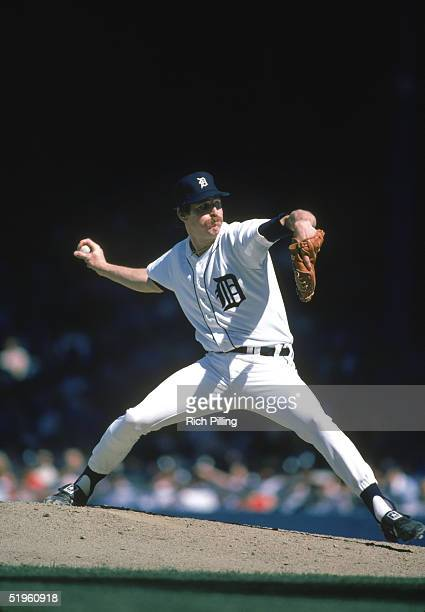 Jack Morris of the Detroit Tigers winds back to pitch during a 1984 season game Jack Morris played for the Detroit Tigers from 19771990 Minnesota...