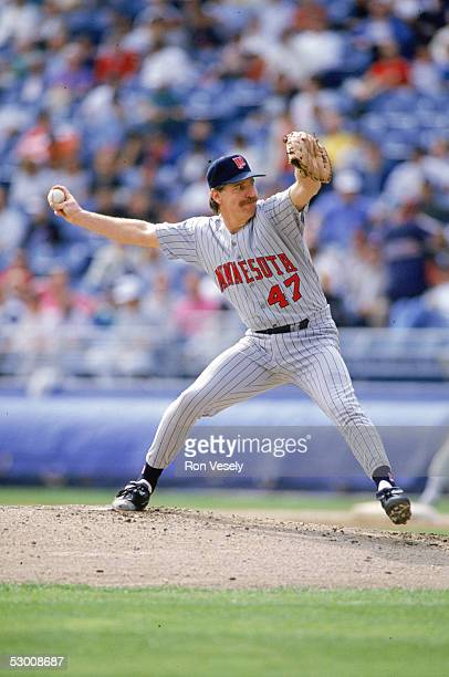 Jack Morris of the Minnesota Twins delivers a pitch in a 1991 game during his single season with the team