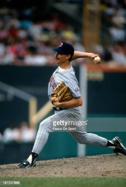 Jack Morris of the Minnesota Twins pitches during an Major League Baseball game circa 1991 Morris played for the Twins in 1991
