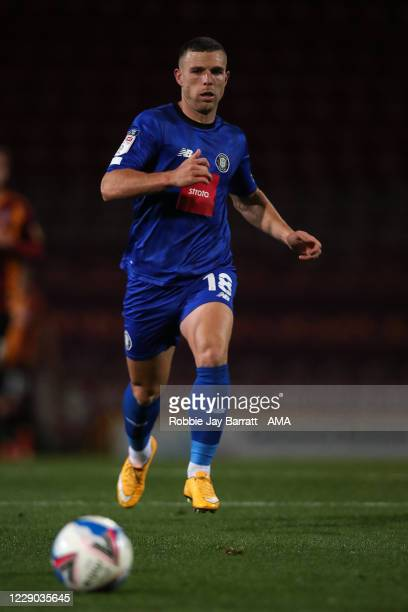 Jack Muldoon of Harrogate Town during the Sky Bet League Two match between Bradford City and Harrogate Town at Northern Commercials Stadium on...
