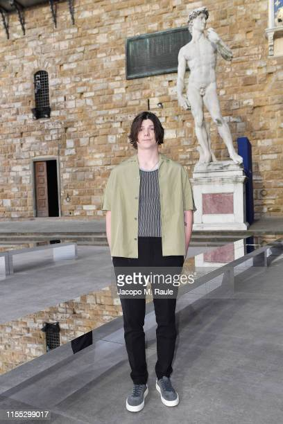 Jack Mulhern attends the Salvatore Ferragamo show during Pitti Immagine Uomo 96 on June 11, 2019 in Florence, Italy.