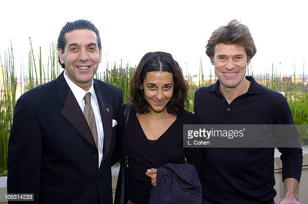 Jack Naderkhani, general manager of Raffles L'Ermitage, guest and Willem Dafoe