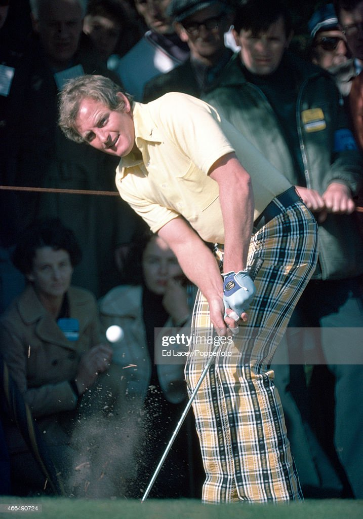 Jack Newton of Australia in action during the Piccadilly World Match Play Championship at the Wentworth Golf Club in Surrey, circa October 1975.