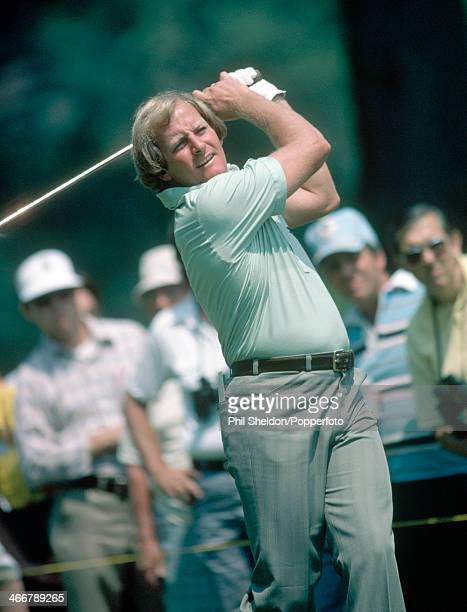 Jack Newton of Australia tracks his shot during the US Open Golf Championship held at the Baltusrol Golf Club in New Jersey circa June 1980