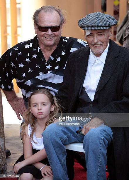 Jack Nicholson actor Dennis Hopper with daughter Gallen Hopper at a ceremony honoring Dennis Hopper with a star on the Hollywood Walk Of Fame on...