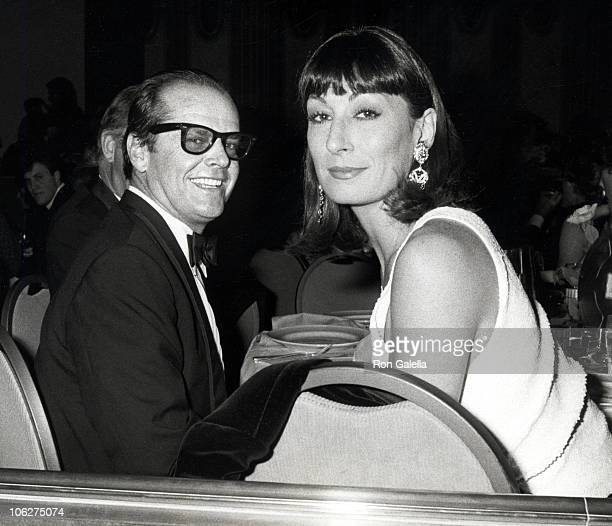 Jack Nicholson amd Anjelica Huston during 38th Annual Directors Guild of America Awards March 8 1986 at Beverly Hilton Hotel in Beverly Hills...