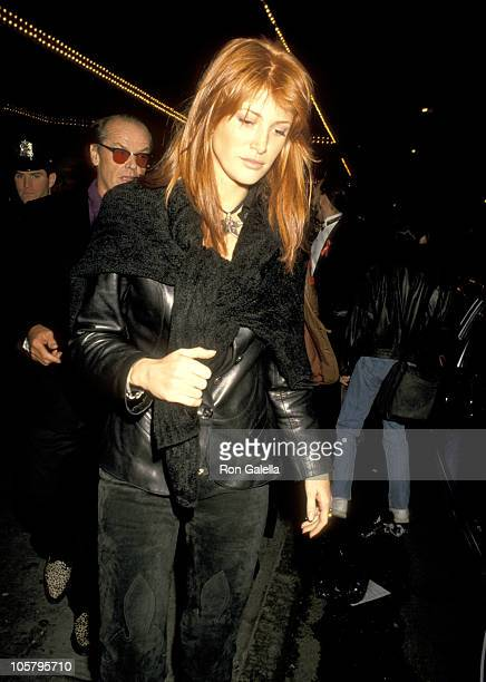 Jack Nicholson and Angie Everhart during The Who's Tommy Broadway Opening Night at St James Theatre in New York City New York United States