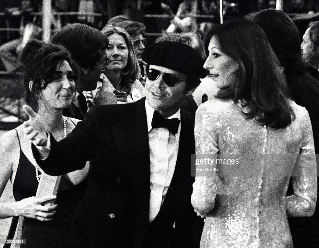 Jack Nicholson and Anjelica Huston during 47th Annual Academy Awards, 1975 at Dorothy Chandler Pavilion in Los Angeles, California, United States.