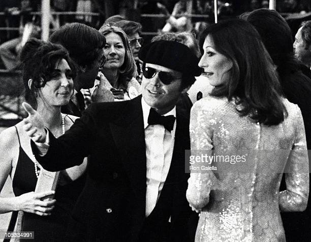 Jack Nicholson and Anjelica Huston during 47th Annual Academy Awards 1975 at Dorothy Chandler Pavilion in Los Angeles California United States