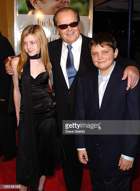 Jack Nicholson and children Lorraine and Raymond during 'Something's Gotta Give' Los Angeles Premiere at Mann Village Theater in Westwood California...