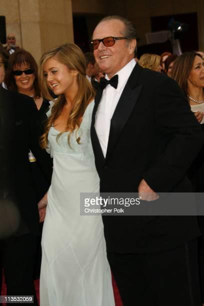 Jack Nicholson and daughter Lorraine Nicholson